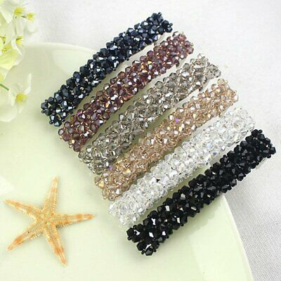 Women Girls Bling Headwear Crystal Rhinestone Hair Clip Barrette Hairpin Gifts