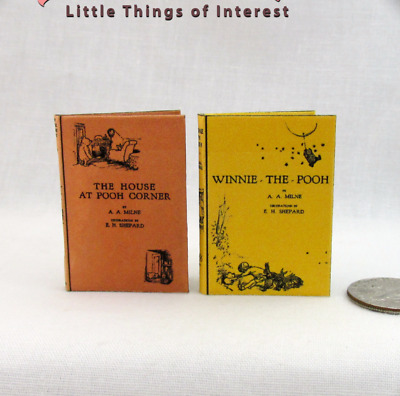 1:6 Scale WINNIE THE POOH BOOK Set of 2 Books Readable Illustrated books