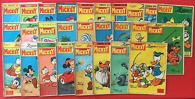 Lot 45X Journal Mickey Year 1965 Disney Series 658/709 Good Condition Weekly