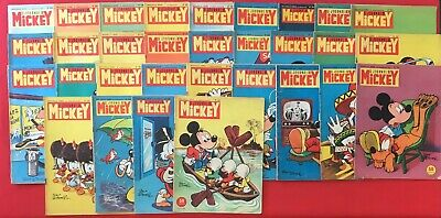 Lot 31X Journal Mickey Year 1958 Disney Series 293/341 Good Condition Weekly