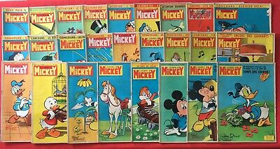 Lot 45X Journal Mickey Year 1962 Disney Series 503/553 Good Condition Weekly
