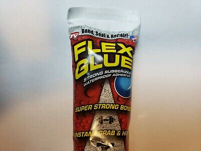 (2)Flex Glue Strong Rubberized Waterproof Adhesive w/ Instant Grab, (2)6 oz Tube
