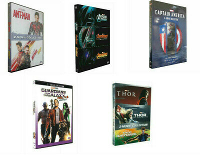 5 Marvel Movie lot THE AVENGERS Ant Man THOR & Captain America Collection DVD