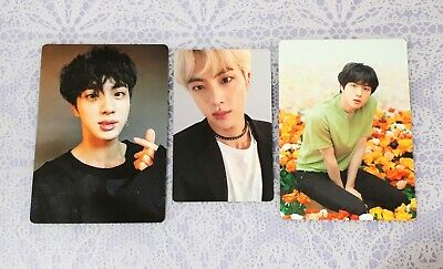 JIN BTS Official Word Tour LOVE YOURSELF Mini Photocard FAKE LOVE FC Light Stick
