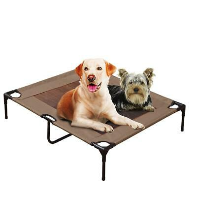 PaWz Heavy Duty Pet Bed Large Trampoline Dog Puppy Cat Cool Frame Mesh Hammock