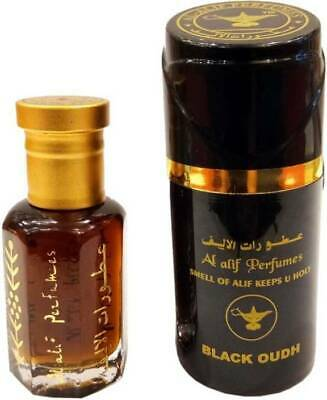 Black Oud 10 ml Concentrated perfume oil By Al Alif Perfume Indian Oud Set of 2
