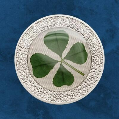 Palau - Four-Leaf Clover Ounce of Luck - 5 $2019 Proof - Silver - Clover
