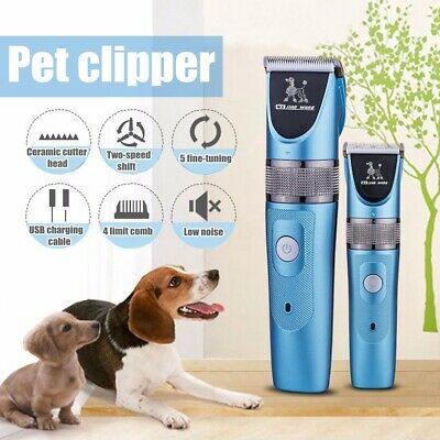 Electric Cordless Pet Grooming Clippers Trimmer 1200mAh Dog Cat Hair Shaver