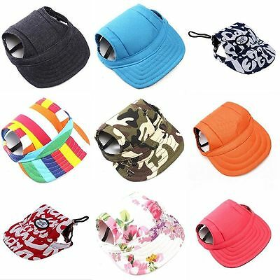 Canvas Summer Small Pet Dog Cat Baseball Visor Hat Puppy Cap Outdoor Sunbonnet G