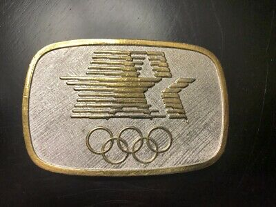 Rare Vintage LA Olympic Games 1984 Belt Buckle 1980 Olympic Organizing Committee