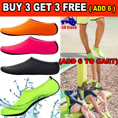 Women Men Water Shoes Aqua Socks Diving Socks Wetsuit Non-slip Swim Beach AU _G