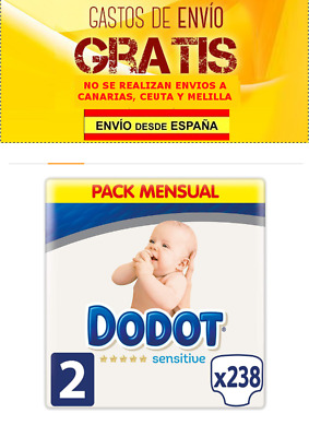 Dodot Protection Plus Sensitive - Pañales Talla 2 (4-8 kg) - 238 pañales