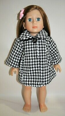 """American Girl Dolls Our Generation 18"""" Doll Clothes Black White Swing Jacket"""