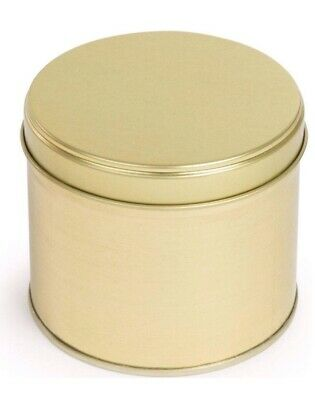 10 Round Welded Side Tins in Gold - Perfect for Candle Making (90 (D) x 77 (H)