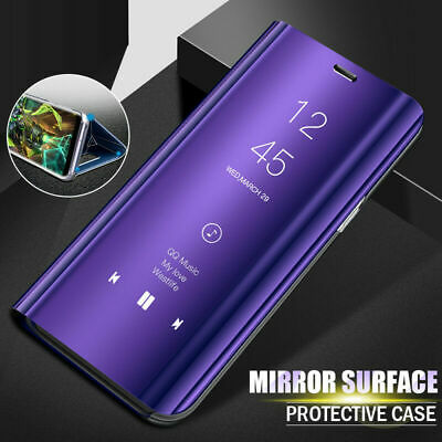 For Xiaomi Redmi Note 8 7 Pro Mi 9 A3 8A 4X Smart Mirror Leather Flip Case Cover