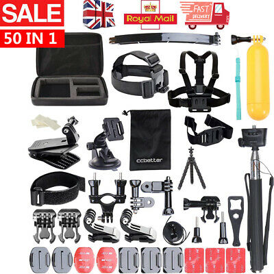 52 PCS For GoPro Hero 7 6 5 Accessories Kit Action Camera Mount Accessory Bundle