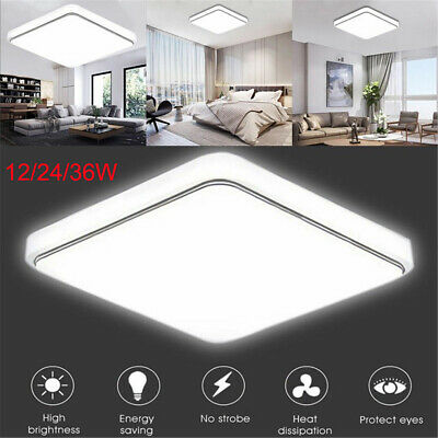 Bright Square LED Ceiling Down Light Panel Wall Kitchen Bathroom Lamp 12/24/36W