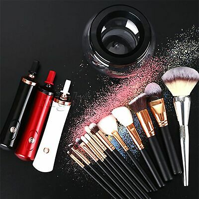 Electric Makeup Brush Cleaner Dryer Set Washing Tool Spinners 3 Colours Portable