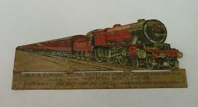 "The Modern Boy Comic Free Gift ""Royal Scot""  Lithograph Tin Plate 1928"