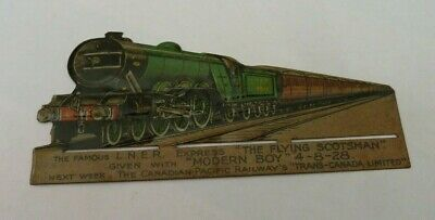 "The Modern Boy Comic Free Gift ""The Flying Scotsman""  Lithograph Tin Plate 1928"