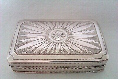 Beautifully Hand Engraved Solid Silver George III Snuff Box Thomas Wallis 1780