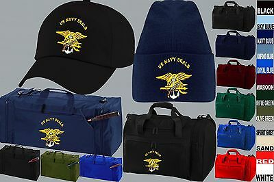 Us Navy Seals Seal Team 6 Squadron Baseball Cap Beanie Wooly Hat Kit Bag Holdall