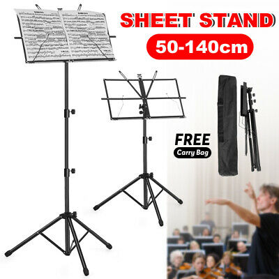 Adjustable Music Sheet Stand Metal Tripod Holder Folding Professional Stage AU