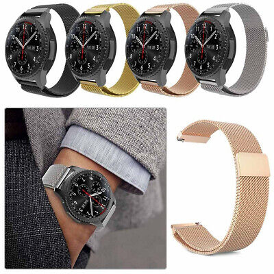 New Universal Milanese Mesh Loop Magnetic Wrist Watch Band Metal Strap 20mm 22mm