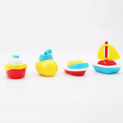 Children Bath Tub Toy Link Boat Train Mold Float Water Baby Playing Toys HY