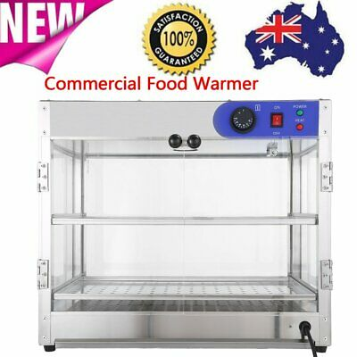Commercial Food Warmer Pie Hot Display Showcase Cabinet Stainless Steel Pizza OZ