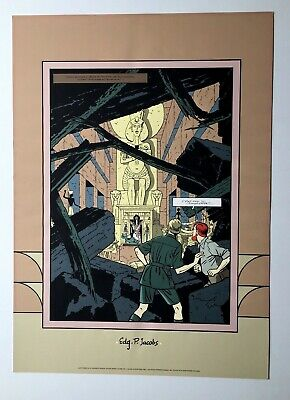 Jacobs Blake Et Mortimer Mystere Pyramide Archives Internationales Affiche 50X71