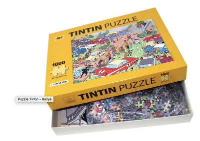 Puzzle Tintin - Rallye Puzzle avec poster. MOULINSART 81546. NEUF