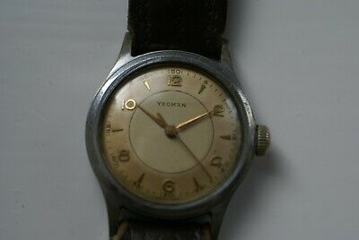 """Vintage Swiss Made """" Yeoman  """" Aquatite """" Gents Military Styled Wind-Up W/Watch"""