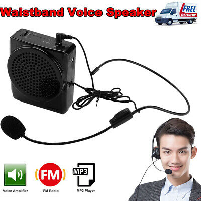 Portable Waistband Voice Amplifier Changer Booster Mini Loud Speaker Microphone