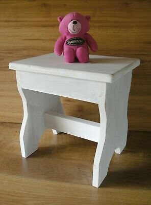 seat stool small childs seat rustic shabby chic x2 (pair of.)