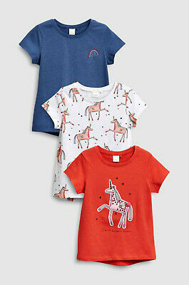 Next Girls Unicorn Tops X3 Age 2-3 Years Bnwt