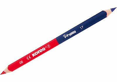 Crayon de couleur TWIN Jumbo, bleu/rouge, triangulaire