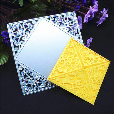 Square Greeting Card Metal Cutting Dies Stencil Scrapbooking Embossing DIY Craft