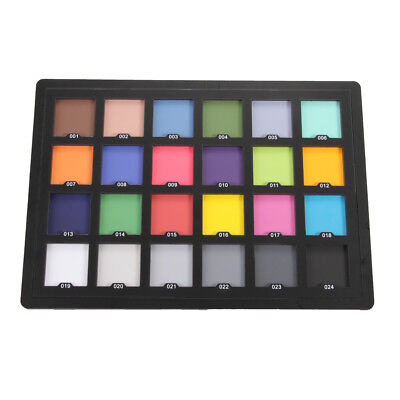 24 Colors ColorChecker Classic White Balance Test  Cards For Munsell /Macbeth