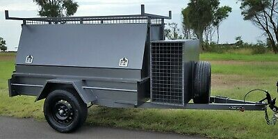 QLD Built BRAND NEW 7x4 Tradesman Builder Trailer Jockey Spare Heavy Duty