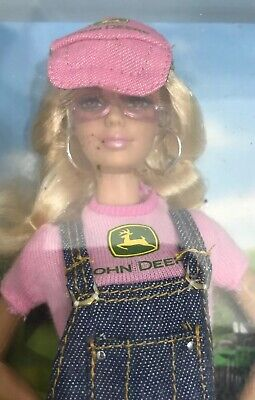 John Deere Barbie Doll Pink Label Collector Series 2007 Mattel Farm Fashions