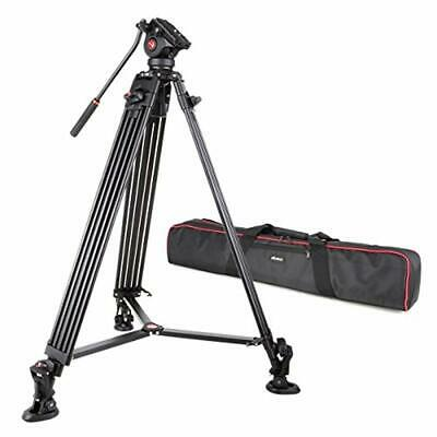 VILTROX VX-18M Professional Heavy Duty Video Tripod w/ Fluid Drag Head