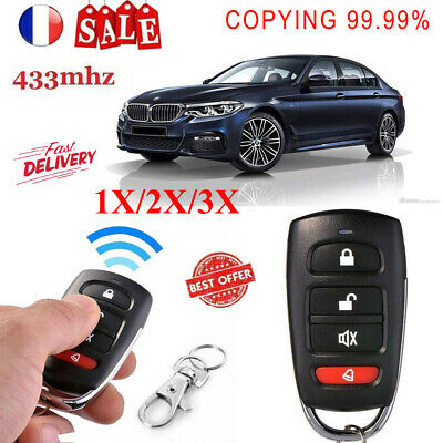 1/2/3X Universal Clone Remote Control Key Fob Electric Gate Garage Door 433MHz