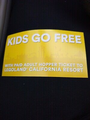 KID CHILD GO FREE w/paid Adult Legoland CALIFORNIA Email Code in MINS 09/30/2019