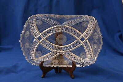 Vintage Fine Quality Cut Crystal Dish with Very Delicate Design