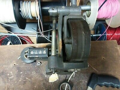 Wire/Cable Measurer/Counter Machine w/ Spooner. Mechanical Veeder Root