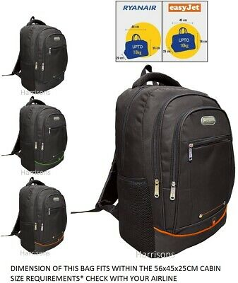TRAVEL BACKPACK CABIN BAG HAND LUGGAGE 56x45x25cm EASYJET JET2 RYANAIR UPTO 10KG