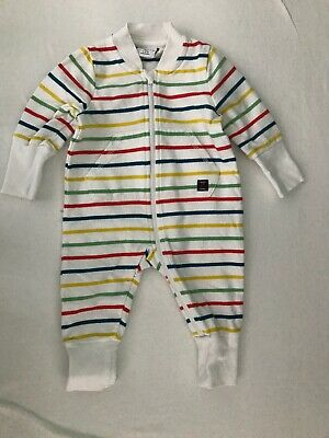 Polarn O. Pyret Baby All In One Playsuit Babygrow Sleepsuit Size 1-2 Months