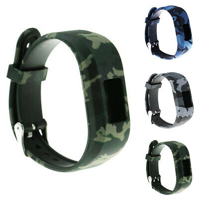 Replacement Camouflage Silicone Wrist Straps Watch Band for Garmin Vivofit JR2