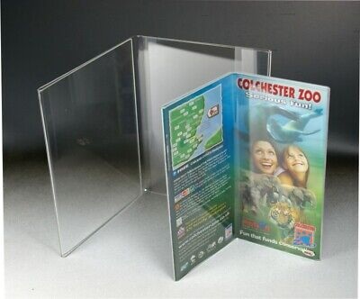 Acrylic Book Style Poster Holder. Free Standing Poster Holder. Acrylic POS. POS.